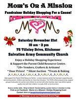Holiday sale :  Moms on a Mission at Salvation Army church