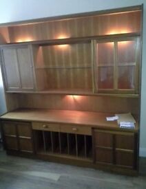 Nathan G Plan solid Teak wall display unit sideboard dresser RRP £2000+