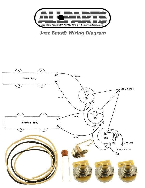 new jazz bass pots wire amp wiring kit for fender jazz bass new jazz bass pots wire wiring kit for fender jazz bass guitar diagram