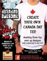 Custom Canada Day tees - Banff July 1st Bear St Market