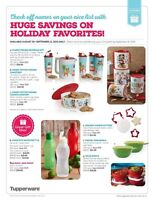 New christmas tupperware available only until sept 11!!