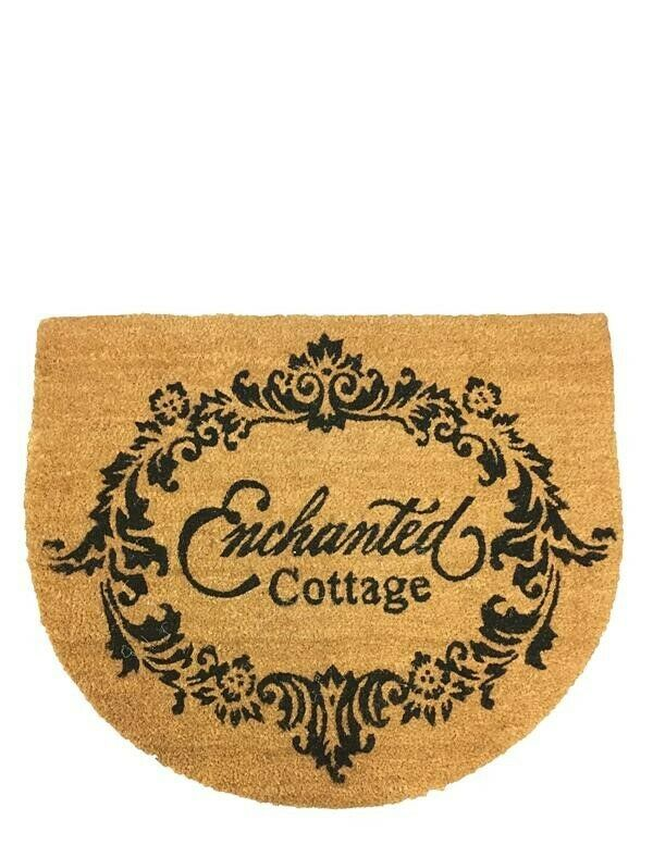 Victorian Trading Co Enchanted Cottage Welcome Home Coir Doormat