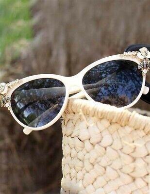Victorian Trading Co Riviera Sunglasses Cat Eye Rhinestone (Rhinestone Cat Eye Sunglasses)