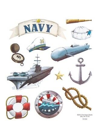 Military Army Navy Air Force Scrapbook Stickers Your Choice!