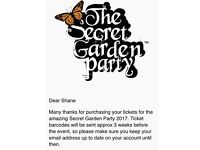 Hi I am selling my ticket to the secret garden party.