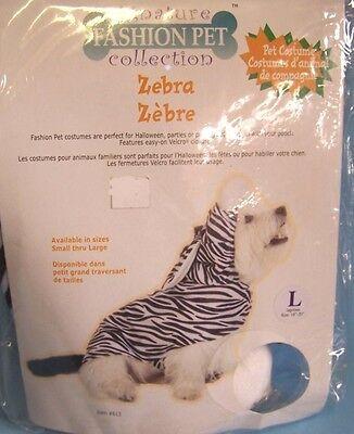 FASHION PET DOG CAT PET COSTUME HALLOWEEN ZEBRA FURRY SOFT Medium M NEW IN PKG](Furries In Halloween Costumes)