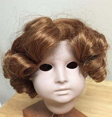"""WEE 3  Doll Wig """"SHIRLEY"""" Size 12-13  AUBURN - Sausage and smaller curls"""