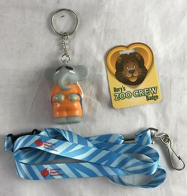 American Heart Association Zoo Crew Elephant  Mr  Tusker Keychain   Lanyard