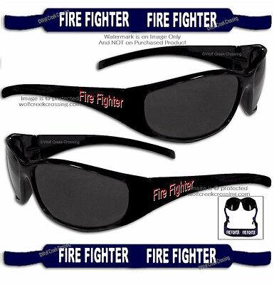 FIREFIGHTER STRAP PLUS FIRE FIGHTER SUNGLASSES (SET) RESCUE SEARCH - FREE (Firefighter Sunglasses)