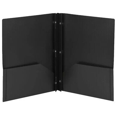 Smead Poly Folder With Prongs 2-pocket With Prongs Black Pack Of 25 Black