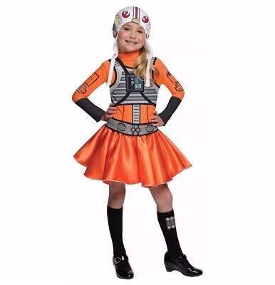 Girls Rubie's Disney Star Wars X-Wing Fighter Pilot Halloween Costume, Large (Girl Pilot Halloween Costume)