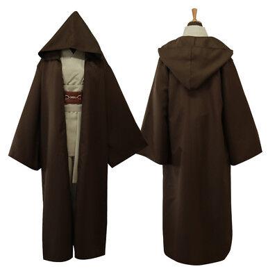Herren Kostüm Karneval Outfit/ Cosplay Star Wars Robe Obi-Wan Kenobi Jedi Cloak