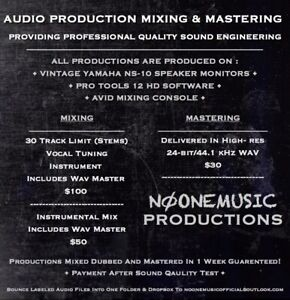 Professional Audi Mixing And Mastering