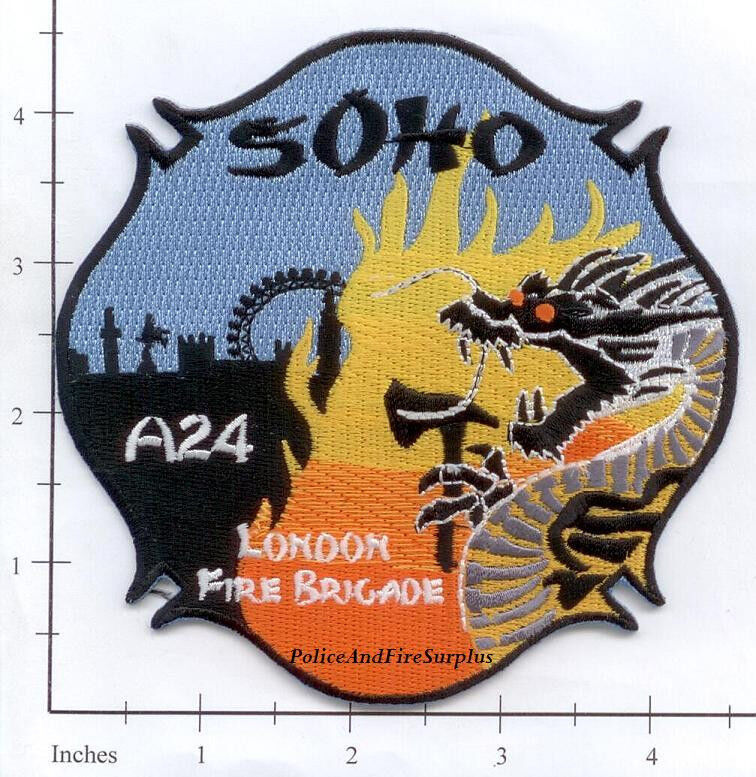 United Kingdom - London Fire Brigade SOHO A24 Fire Patch