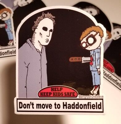 Horror Humor Michael Myers Halloween tribute vinyl sticker - Halloween Humour