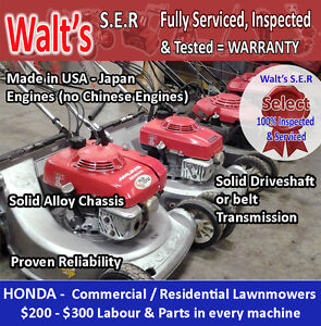 HONDA LAWNMOWER - Large Selection - High Quality- WARRANTY