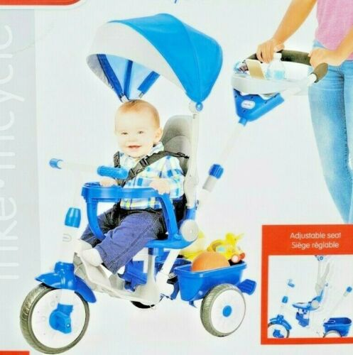 Little Tykes Tricycle Perfect Fit 4-in-1 Trike 9M-5YRS Adjustable Seat Push Ride