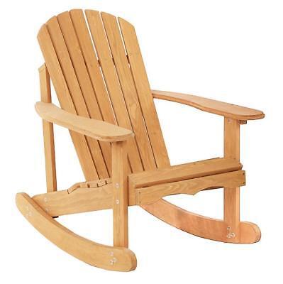 New Garden Rocking Rest Adirondack Wood Chair,Furniture Lawn Patio Deck Seat
