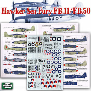 Sea Fury FB.11 / FB.50: FAA, RAN, RCN, Dutch (1/72 decals, XtraDecal 72074)