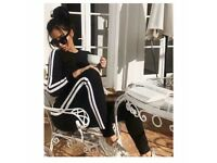 Women's black and white stripe tracksuit loungewear size 6-14 £25