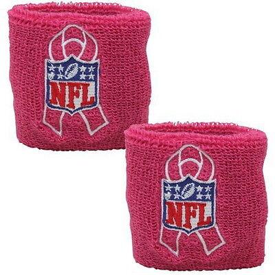 NFL PINK BREAST CANCER AWARENESS WRIST BANDS PACKAGE OF 2 WITH NFL BCA LOGO  - Breast Cancer Awareness Logo