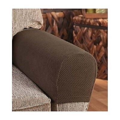 Armrest Covers Stretchy 2 Piece Set Chair or Sofa Arm Protectors Stretch to  Fit - Armrest Covers Stretchy 2 Piece Set Chair Or Sofa Arm Protectors
