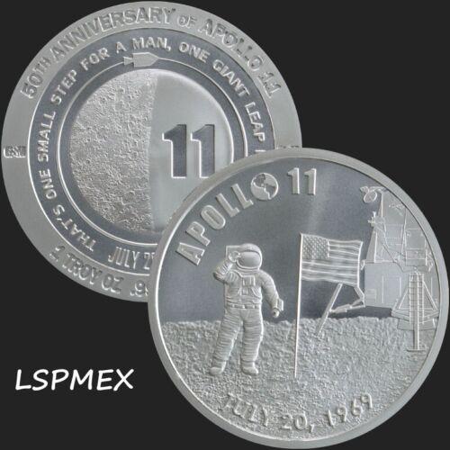2019 Apollo 11 50th Anniversary 1 oz .999 Silver BU Round Limited USA Made Coin