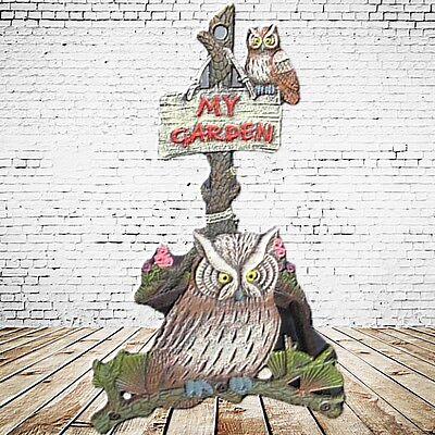 Hose Holder Owl Iron Cast Coloured Home Yard Garden Gift Height =3 6 CM