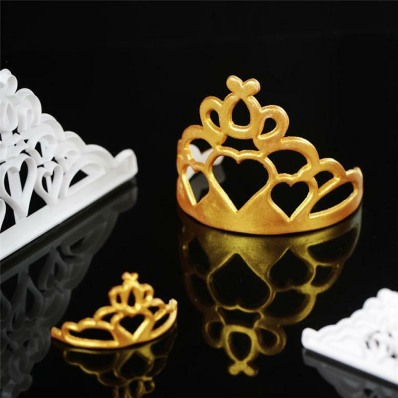 Fondant Cake Cookies Crown Chocolate Mold Silicone Mold Decorative Baking Tools