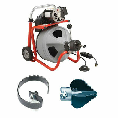 Ridgid 27013 K-400af Drum Machine Bundle W 63055 And 63025 Cutter Tools