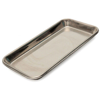 Stainless Steel Medical Surgical Tray Cosmetic Dental Dish Lab Instrument Tools