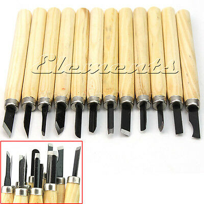 12 pc Hobby Craft Wood Carving Set Wood Working Chisel Tool Set (T019)