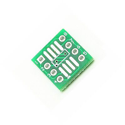 20pcs New Sop8 So8 Soic8 To Dip8 Interposer Board Pcb Board Adapter Plate T2