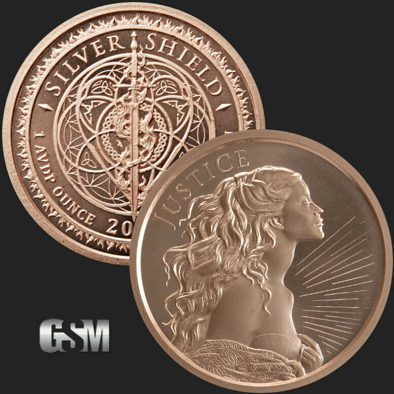 1 oz Copper Round - Justice