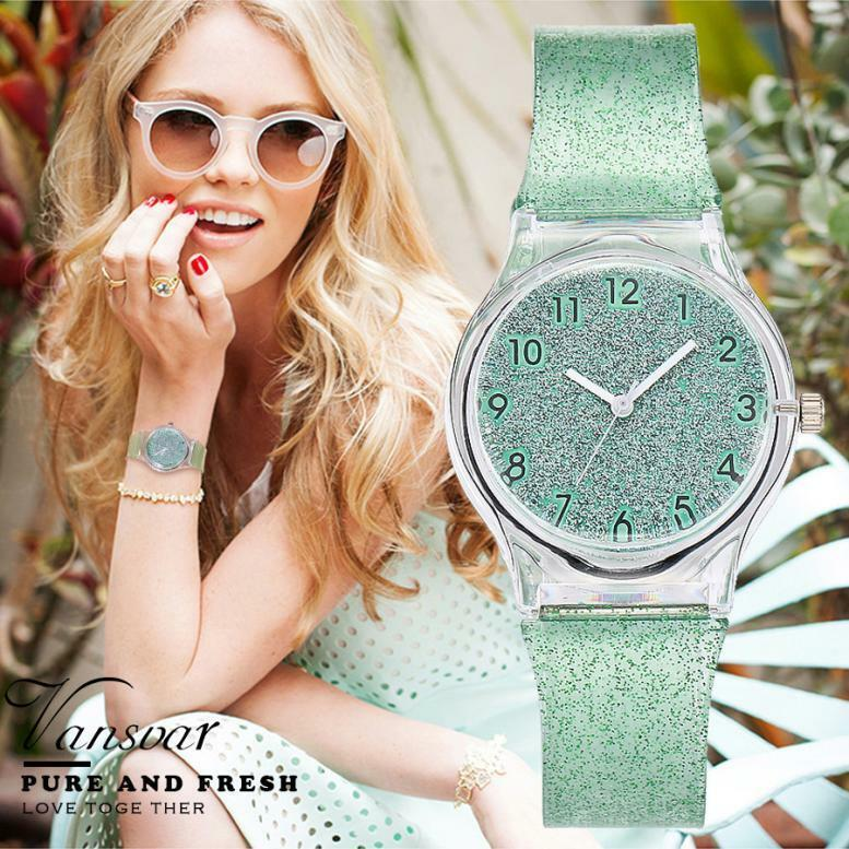 Women's Casual Watches Fashion Plastic Band  Watch Quartz Analog Wrist Watch