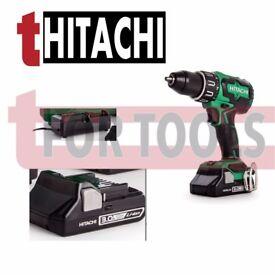 HITACHI 18V COMBI DRILL DEAL WITH BRUSHLESS MOTOR, 2X 3.0AH LI-ION BATTERIES