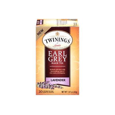 TWININGS EARL GREY BLACK LAVENDER TEA 20 Tea Bags