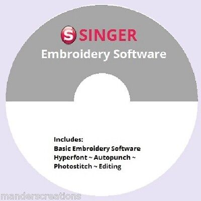 FREE Singer Futura Software~with $20 purchase of FONTS package Embroidery Fonts Software