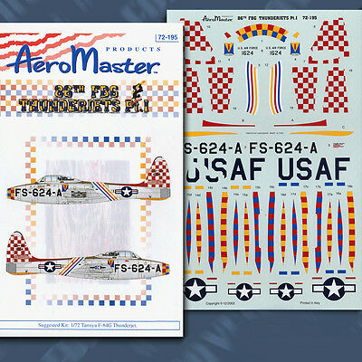 F-84 Thunderjets of 86th FBG Pt 1: Col Geo Laven 1/72 decals Aeromaster 72195
