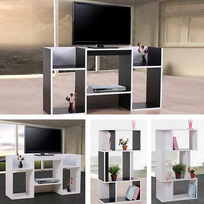 Tv-rack (TV-Rack Fernsehtisch Standregal aus Holz 109x59x30 cm schwarz weiß)