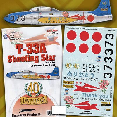 "T-33A (F-80) Shooting Star ""T-Bird"" of JASDF (1/32 decals, Superscale 320256) for sale  Poughkeepsie"