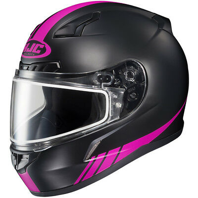 HJC CL-17 Snowmobile Helmet - Heated Electric Shield - Pink - Small - SHIPS - Small Snowmobiles Helmets
