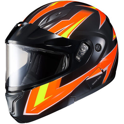 Hjc Cl Max Snow (HJC CL-Max II Mod Snowmobile Helmet - Snow Shield - Orange - 2XL - SHIPS FREE )