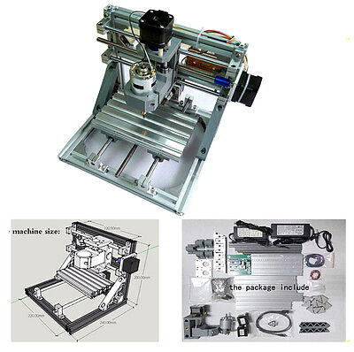 Diy 3 Axis Engraver Machine Milling Wood Carving Engraving Kit Cnc Us Stock