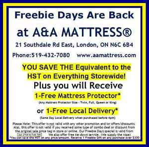 NEW FULL MATTRESS! Freebie Days Are Back! No Tax & *Free Gift! London Ontario image 2