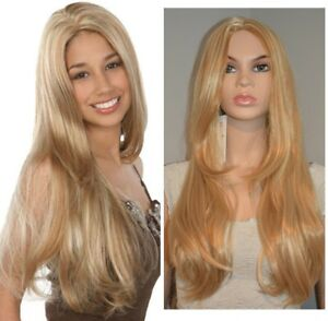 BRAND NEW: Deluxe Straight Blonde Highlighted Wig