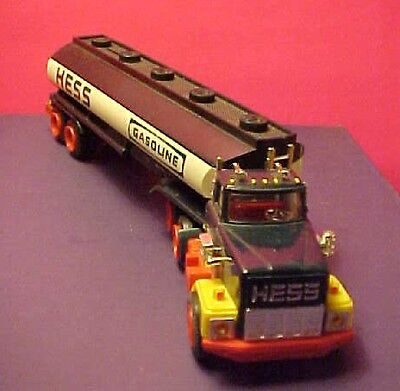 """13"""" Long vintage plastic Hess Tanker Truck"""
