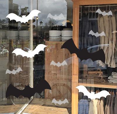Halloween Shop Window Bat Decorations / Halloween Bats Window Cling Sticker Pack](Halloween Shop Decorations)