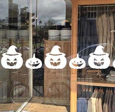 Halloween Shop Window Decorations / Halloween Pumpkin Window Cling Sticker Pack](Halloween Shop Decorations)