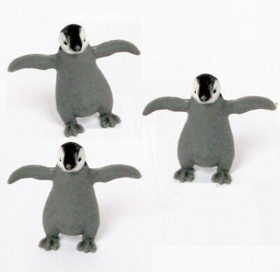 Doll House Shoppe Toy 3 Baby Penguin Figures Game Piece Micro-Mini Miniature for sale  Shipping to India